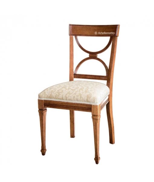 Sedia per sala da pranzo o salotto classica con imbottitura, Art. AF-9583