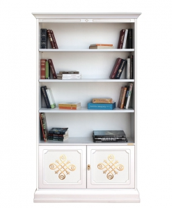 Libreria 2 ante con fregi dorati, da salotto ufficio studio