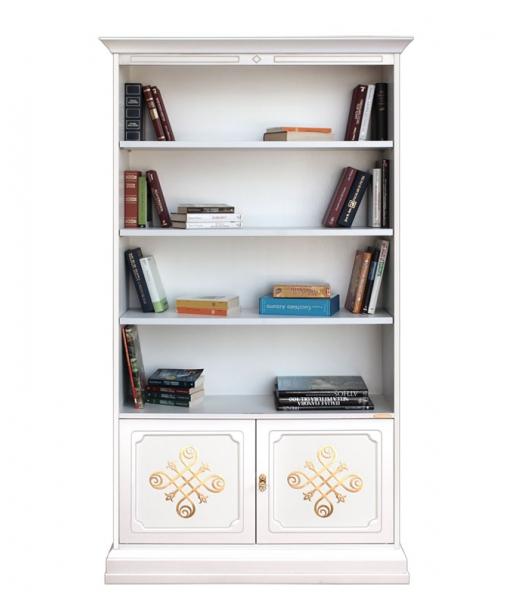 Libreria 2 ante con fregi dorati, da salotto ufficio studio, Art. 201-YOU