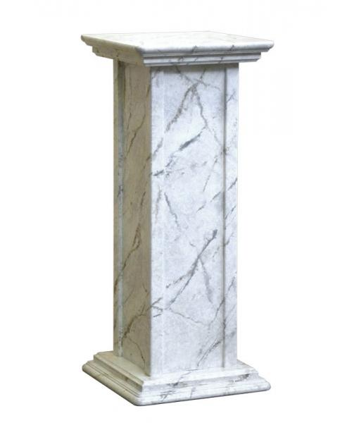 Colonna portavasi finitura in marmo. Codice PV-01-M