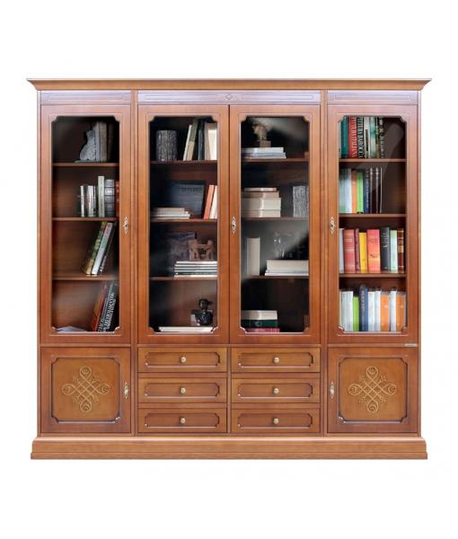 Vetrina libreria composizione parete.  Art. 3215-YOU