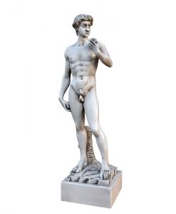 Scultura legno ad ispirazione David di Michelangelo, Arteferretto
