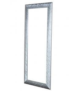 Specchiera rettangolare foglia argento
