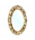 Specchiera ovale con foglia oro, Arteferretto