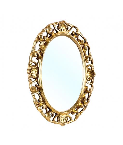 Specchiera ovale con foglia oro, Art. DB-H127