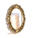 Specchiera ovale da salotto, ingresso, alta qualità italiana, Arteferretto