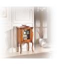 Vetrinetta da salotto o sala da pranzo in legno intagliata