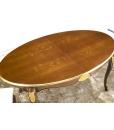 Tavolo ovale allungabile da pranzo con gambe sagomate