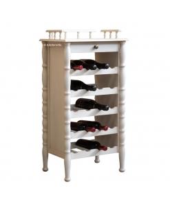 Mobile porta bottiglie di vino con cassetto, Arteferretto