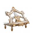 Leggio in legno di tiglio da tavolo, decorato con foglia oro, Arteferretto