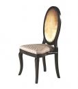 Sedia classica con schienale ovale per sala da pranzo, Arteferretto