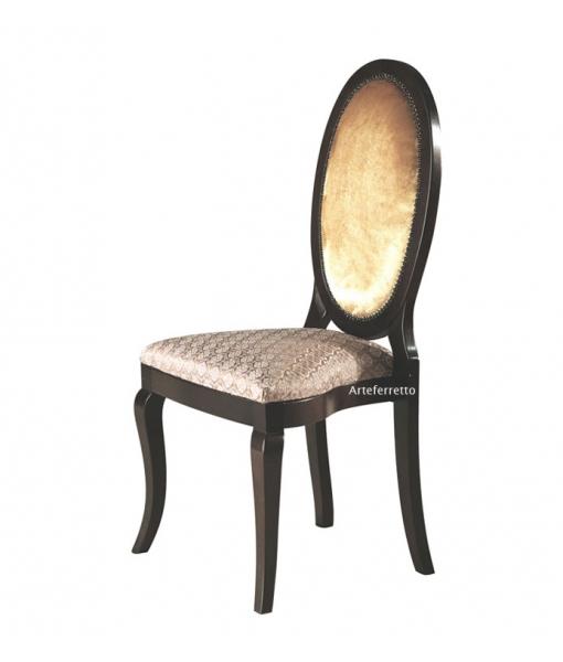 Sedia classica con schienale ovale per sala da pranzo, Art. MS-A73
