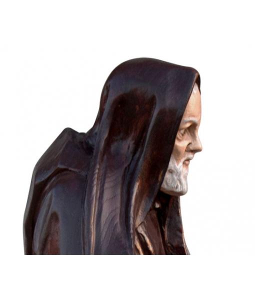 Dettaglio del viso di Padre Pio