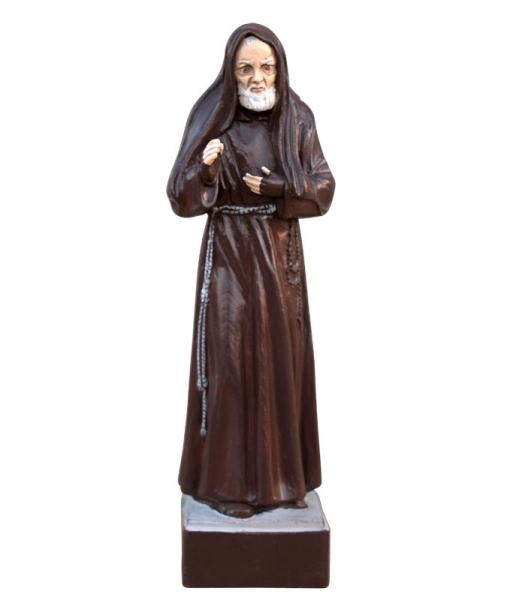 Statuetta in legno massiccio scolpita a mano di Padre Pio