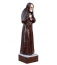 Statuetta in legno di Padre Pio, intagliata e rifinita a mano