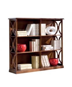 Libreria bassa in legno per il salotto / ufficio / studio