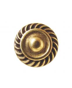 Pomello con corona cesellata, per mobili classici