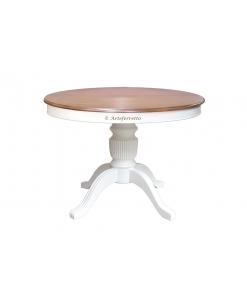 Tavolo rotondo da pranzo bicolore