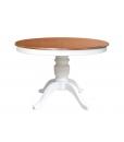 Tavolo bicolore, tavolo rotondo 2 colori, tavolo in legno