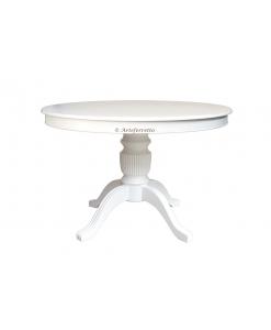 Tavolo rotondo per sala da pranzo, colore bianco
