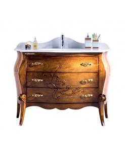 Mobile bagno sagomato in legno