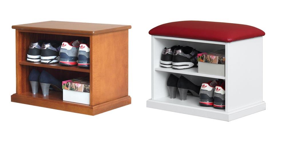 banquette range chaussures
