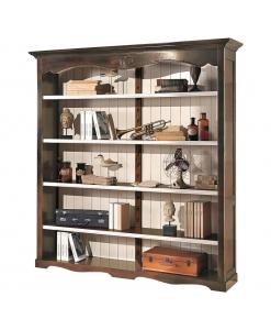 Libreria in legno con ripiani