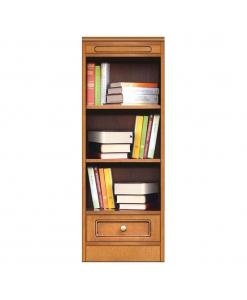 Mobile modulare componibile, libreria con cassetto, Arteferretto