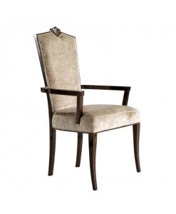 Sedia intagliata, sedia in stile classico, sedia capotavola in legno