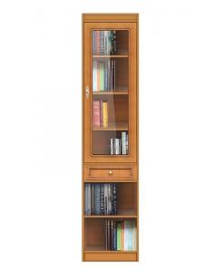 Modulo libreria 1 cassetto e 1 anta vetro